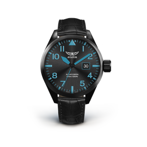 Preview image of Aviator Airacobra P42 Black and Blue Strap Watch