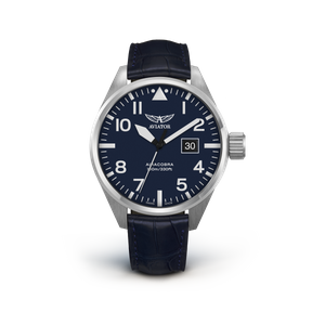 Preview image of Aviator Airacobra P42 Blue Strap Blue Dial Watch