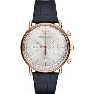 Preview image of Emporio Armani Aviator Rose Gold Chronograph Gents Strap Watch