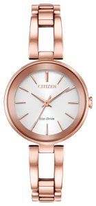 Preview image of Citizen Ladies Axiom Rose Gold Plated Open Link Bracelet Watch