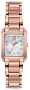 Preview image of Citizen Bianca Rectangle Rose Gold Plated Ladies Bracelet Watch