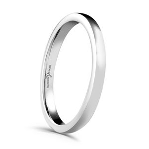 Preview image of 18ct White Gold 2.5mm Plain Heavyweight Court Ladies Wedding Ring