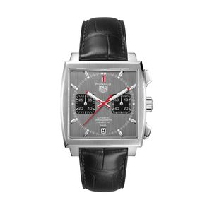 Preview image of TAG HEUER MONACO CALIBRE 12 LIMITED EDITION GREY STRAP WATCH