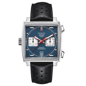 Preview image of TAG Heuer Monaco Steve McQueen Edition Gents Chronograph Black Strap Watch