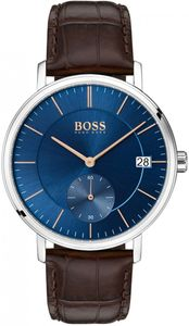 Preview image of Hugo Boss Corporal Brown Leather Strap Watch