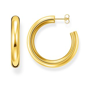 Preview image of Thomas Sabo Yellow Gold Plated Classic Large Hoops