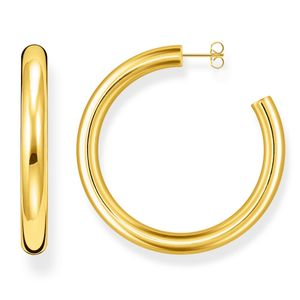 Preview image of Thomas Sabo Yellow Gold Plated Classic Extra-Large Hoops