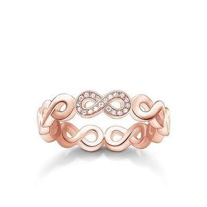 Preview image of Thomas Sabo Rose Gold Plated Diamond Infinity Ring Size 54