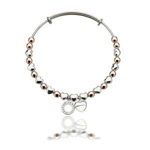 Preview image of Hot Diamonds Emozioni Rose Heart Bangle