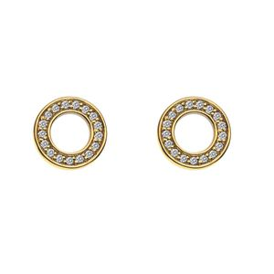 Preview image of Hot Diamonds Emozioni Gold Saturno Earrings