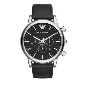 Preview image of Emporio Armani Men's Black Strap Watch