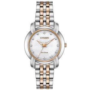Preview image of Citizen Jolie Pink Gold and Steel Bracelet Watch