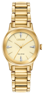 Preview image of Citizen Axiom Yellow Gold Plated Ladies Bracelet Watch