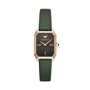 Preview image of Emporio Armani Gioia Rose Gold Green Strap Ladies Watch