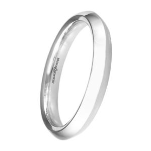 Preview image of Platinum 3mm Ridged Centre Ladies Wedding Ring