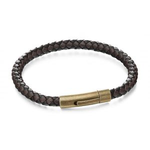 Preview image of Fred Bennett Leather Woven Bracelet