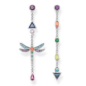 Preview image of Thomas Sabo Sterling Silver Dragonfly Drop Earrings