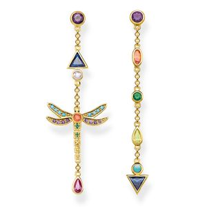 Preview image of Thomas Sabo Yellow Gold Plated Dragonfly Drop Earrings