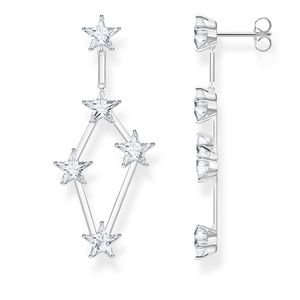 Preview image of Thomas Sabo Stone Set Star Scattered Drop Earrings