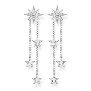 Preview image of Thomas Sabo Stone Set Stars on Chains Drop Earrings