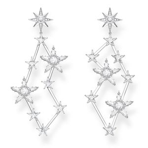 Preview image of Thomas Sabo Stone Set Multi Scattered Stars Drop Earrings