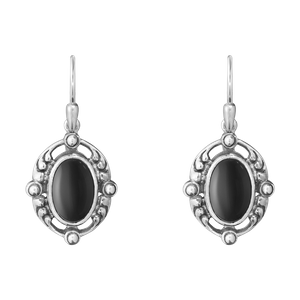 Preview image of Georg Jensen Heritage Black Onyx Drop Earrings