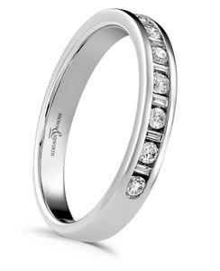 Preview image of 18ct White Gold 3mm Charm Ladies 0.20ct Diamond Eternity Ring