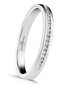 Preview image of 9ct White Gold 2.6mm Elegance Ladies 0.07ct Diamond Eternity Ring