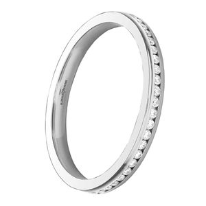 Preview image of Platinum 2mm Channel Set Ladies 0.125 ct Diamond Eternity Ring