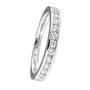 Preview image of 18ct White Gold 3mm Ladies 0.30ct Diamond Eternity Ring