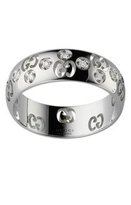 Preview image of Gucci 18CT White Gold Icon Diamond Ring