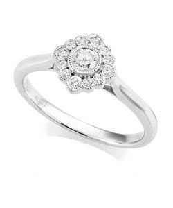Preview image of PLATINUM DIAMOND .32CT ROUND TAPERED RING