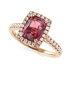 Preview image of 18CT ROSE GOLD UNHEATED ROSE SAPPHIRE 3.27 & DIAMOND .39 RING
