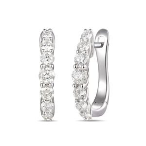 Preview image of 18CT WHITE GOLD DIAMOND .46 HOOP EARRINGS