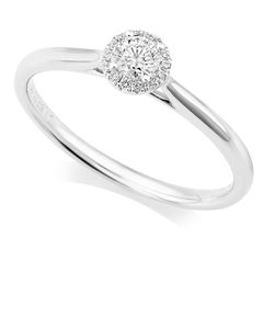 Preview image of PLATINUM DIAMOND .20 ROUND CLUSTER RING