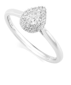 Preview image of PLATINUM DIAMOND .26 PEAR CLUSTER RING