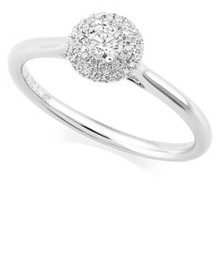 Preview image of PLATINUM DIAMOND .30 ROUND CLUSTER RING