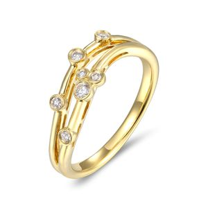 Preview image of 18CT GOLD DIAMOND .13 BUBBLE RING