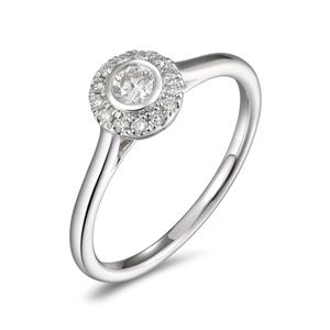 Preview image of PLATINUM DIAMOND .23 ROUND HALO RING
