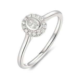 Preview image of PLATINUM OVAL DIAMOND .26 OVAL HALO RING