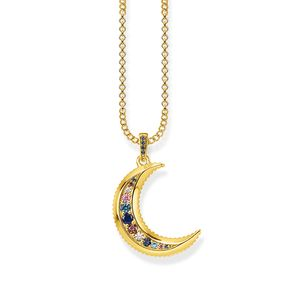 Preview image of Thomas Sabo Multi-stone Kingdom of Dreams Moon Necklace