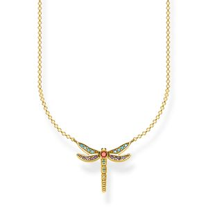 Preview image of Thomas Sabo Yellow Gold Plated Small Dragonfly Necklace