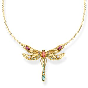 Preview image of Thomas Sabo Yellow Gold Plated Large Dragonfly Necklace