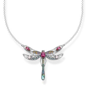 Preview image of Thomas Sabo Multi Stone Large Dragonfly Necklace