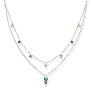 Preview image of Thomas Sabo Double Row Colourful Necklace