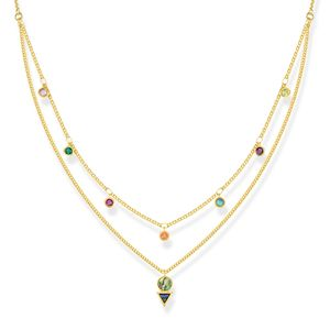 Preview image of Thomas Sabo Yellow Gold Plated Double Row Colourful Necklace