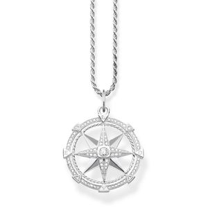 Preview image of Thomas Sabo Large Stone Set Compass Necklace