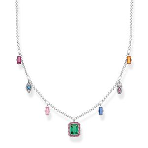 Preview image of Thomas Sabo Lucky Symbols Sterling Silver Multi Stone Necklace
