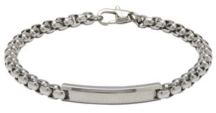 Preview image of Unique Steel ID Bar Bracelet