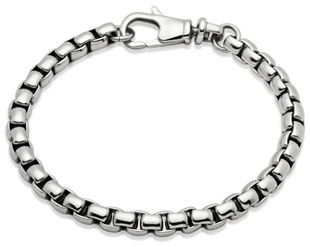 Preview image of Unique Steel Heavy Square Link Bracelet